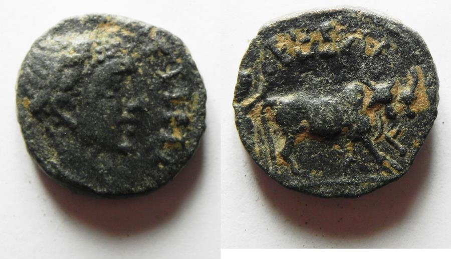 Ancient Coins - 	ARABIA. A CITY COIN FROM PETRA. ELAGABALUS AE 17