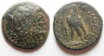 Ancient Coins - Ptolemaic kingdom. Ptolemy IV Philopator (225-205 BC). AE 23mm, 27.19g. Tyre mint (Series 5)