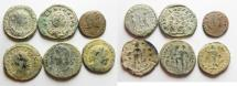 Ancient Coins - LOT OF 6 ROMAN AE COINS