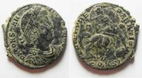 Ancient Coins - CONSTANTIUS II AE CENT. NICE QUALITY AS FOUND. CONSTANTINOPLE