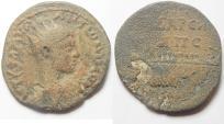 Ancient Coins - DECAPOLIS. MAEDALLION. ELAGABALUS.  AE 32 . GALLEY