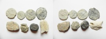Ancient Coins - MIXED GROUP OF 8 ANCIENT LEAD BULLAE AND TOKENS