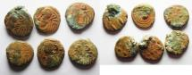 Ancient Coins - PERSIA. LOT OF 6 ELYMAIS AE DRACHMS