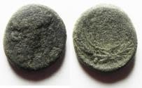 Ancient Coins - NEEDS CLEANING: HERODIAN. Agrippa II under Nero. AE 16. Founding of Neronias.