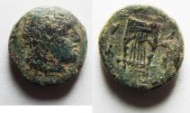 Ancient Coins - Kyrenaica. Kyrene. Magas. As king of Kyrene. circa 282/75-261 BC. Æ 17
