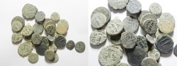 Ancient Coins - LOT OF 31 ISLAIMC AE FALS GROUP, MOSTLY UMAYYED FROM SYRIA, JORDAN AND PALESTINE