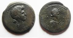 Ancient Coins - EGYPT, Alexandria. Julia Augusta (Livia). As wife of Augustus, 38 BC-AD 14. Æ Diobol. Dated RY 40 or 41 of Augustus (AD 10-12).