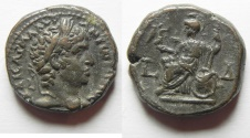Ancient Coins - Egypt. Alexandria under Elagabalus (AD 218-222). Billon tetradrachm (21mm, 11.41g). Struck in regnal year 4 (AD 220/1).