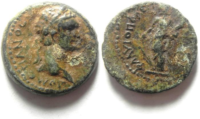 Ancient Coins - Roman Provincial. Cilicia, Flaviopolis under Domitian, AD 81-96. AE 18
