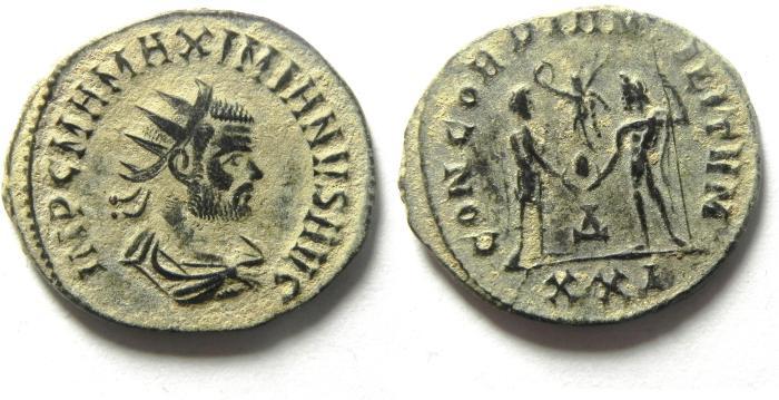 Ancient Coins - CHOICE MAXIMIAN AE ANTONINIANUS , BEAUTIFULL DESERT PATINA