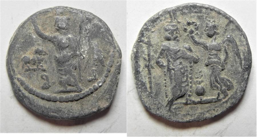 Ancient Coins - Egypt. Alexandria. Second-third centuries AD. Lead tessera (20mm, 3.66g).