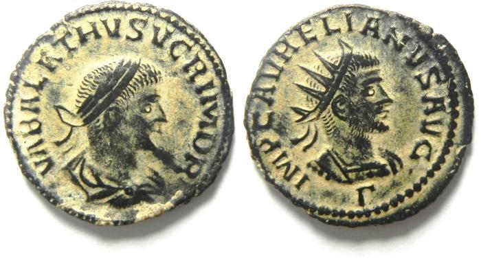 Ancient Coins - Vabalathus AE antoninianus Vabalathus & Aurelian