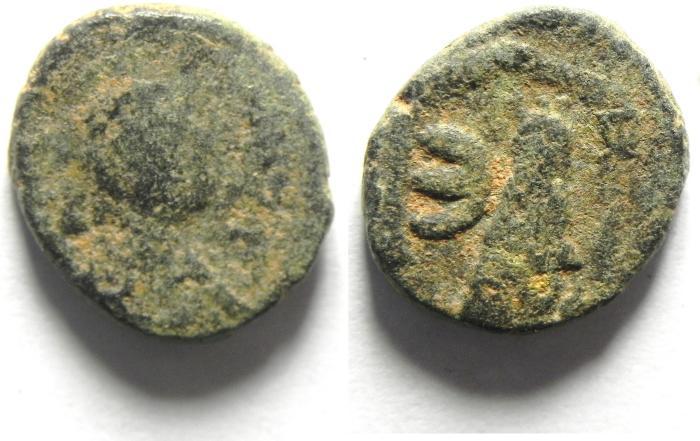 Ancient Coins - Byzantine Empire Justinian I 527-565 AD AE Pentanummium