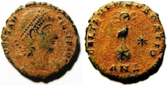 Ancient Coins - CONSTANTIUS II AE 3 , SCARCE AS FOUND