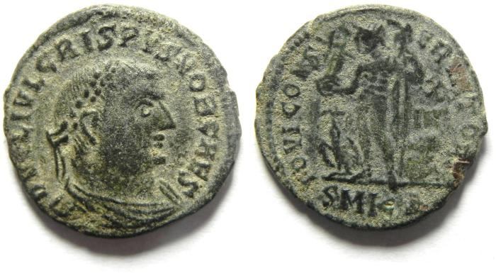 Ancient Coins - CRISPUS AE FOLIIS , NICE AS FOUND