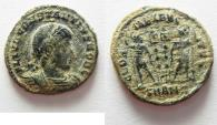 Ancient Coins - CONSTANTIUS II AE 3 . DESERT PATINA AS FOUND