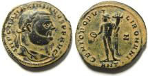 Ancient Coins - GALERIUS AE LARGE FOLLIS , BEAUTIFULL ORIGINAL PATINA.