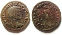 Ancient Coins - CHOICE CONSTANTIUS I AE FOLLIS  ROME MINT