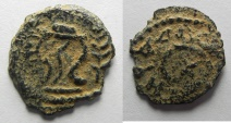 Ancient Coins - Judaea, Herodian Kings, Herod I, 40-4 BC, AE Double Prutah