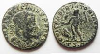 Ancient Coins - LICINIUS I AE FOLLIS. AS FOUND. DESERT PATINA