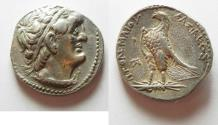 Ancient Coins - Egypt. Ptolemaic kings. Ptolemy I Soter. 305-282 BC. AR tetradrachm (25.5mm, 14.03 g, 1h). Alexandria mint. Struck c. 300-285 BC.