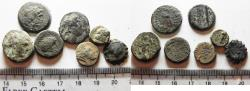 Ancient Coins - LOT OF 7 GREEK BRONZE COINS