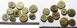 Ancient Coins - ROMAN IMPERIAL. AS FOUND. LOT OF 10 BRONZE COINS