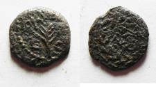 Ancient Coins - Judaea, Procurators. Valerius Gratus. 15-26 AD. AE Prutah . Jerusalem