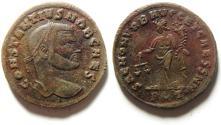 Ancient Coins - CHOICE CONSTANTIUS I AE FOLLIS  ROME MINT