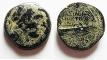 Ancient Coins - SELEUKID KINGS, Demetrios I Soter. AE 20 . Tyre mint, YEAR 159 (154/3 BC)