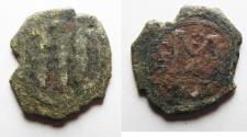 World Coins - NEEDS CLEANING. ARAB-BYZANTINE AE FALS. TIBERIAS MINT