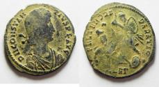 Ancient Coins - CONSTANTIUS II AE CENT. ORIGINAL DESERT PATINA