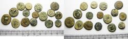 Ancient Coins - ORIGINAL DESERT PATINA. LOT OF 16 ROMAN AE COINS