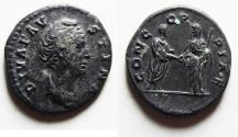 Ancient Coins - ROMAN IMPERIAL. FAUSTINA SENIOR SILVER DENARIUS