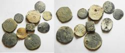 Ancient Coins - 10 ISLAMIC COINS. MIXED WITH SILVER. LEAD. FUREE ETC...