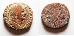 Ancient Coins - Herodian Dynasty, 40 BCE-96 CE. Agrippa II Under Vespasian. 85 / 86 A.D. AE 26
