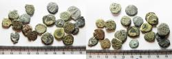 Ancient Coins - JUDAEA. LOT OF 20 BRONZE PRUTAH COINS. MIXED