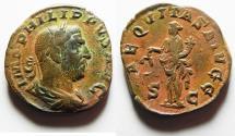 Ancient Coins - Philip I. AD 244-249. Æ Sestertius