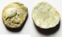 Ancient Coins - GREEK OR NABATAEAN LEAD TOKEN