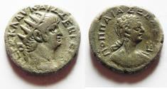 Ancient Coins - EGYPT, Alexandria. Nero. 54-68 AD. AR Tetradrachm with Poppaea