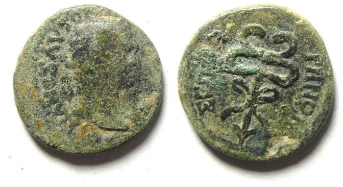 Ancient Coins - JUDAEA , SEPPHORIS , TRAJAN AE 19
