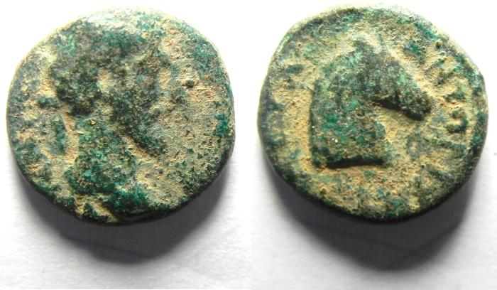 Ancient Coins - SYRIA, Antiochia ad Hippum. Lucius Verus, AD 161-169, Æ 15mm , VERY RARE COIN OF A BIBLICAL CITY!!!!!!!!