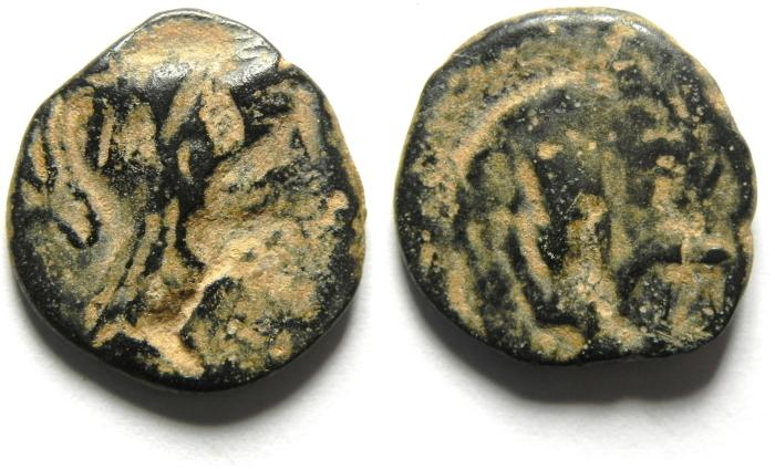 Ancient Coins - Greek. Nabataea. Proto-Nabataean. AE 18mm, 3.30g. Struck c. 250-200 BC.