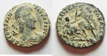 Ancient Coins - CONSTANTIUS II AE FOLLIS. AS FOUND. ALEXANDRIA MINT