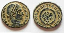Ancient Coins - BEAUTIFUL AS FOUND WITH DESERT PATINA. CONSTANTINE I AE 3