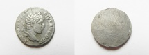 Ancient Coins - Reverse filed in Antiquity : Caracalla (AD 198-217). AR denarius (17mm, 2.33g). Struck c. AD 210-213.