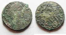 Ancient Coins - AS FOUND. MINT STATE CONSTANTIUS II AE CENT.