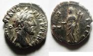 Ancient Coins - BEAUTIFULL ANTONINUS PIUS SILVER DENARIUS