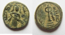 Ancient Coins - ISLAMIC. Ummayad caliphate. Arab-Byzantine series. AD 650-700. AE Damascus mint or Menbej.