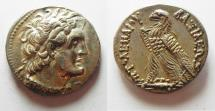 Ancient Coins - EXCEPTIONAL QUALITY: Egypt. Ptolemaic kings. Ptolemy V Euergeties or Ptolemy VI Philometor (204-180 BC or 180-145 BC0. AR tetradrachm (26mm, 14.13g). Alexandria mint.